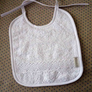 Baby Bib, Lace Trim