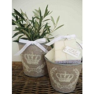 French Inspired Buckets Set of 2