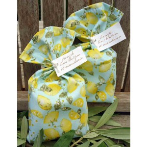 Bath Soap French Lime Blossom et Mandarin 115g in Citrus Tango fabric Bag