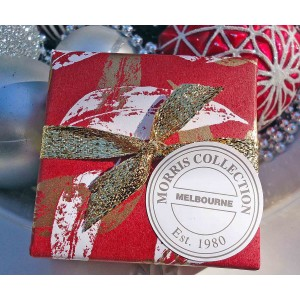 Bath Soap French Lime Blossom & Mandarin 115g in Red Christmas Packaging