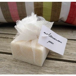 Guest Soap Counter Pack (24) Mediterranean Pear Muslin Packaging