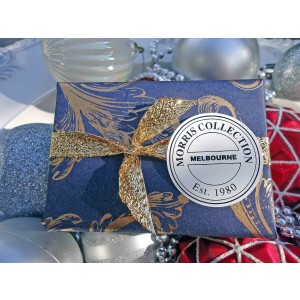 Bath Soap, Lily-of the -Valley Navy, White & Gold Packaging
