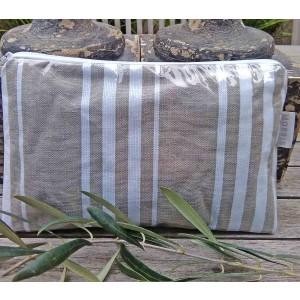 Clutch Toiletry Bag, St. Jean de Luz, Taupe