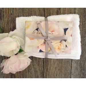 Le Bonheur Bath Soap & Facewasher Set