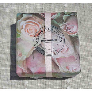 Bath Soap, French Lime Blossom et Mandarin, 115g in French Rose Design Packaging