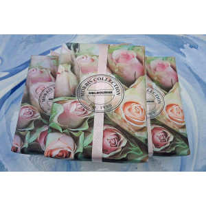 Bath Soap,  Le Bonheur ,  170g French Rose  French Rose Packaging