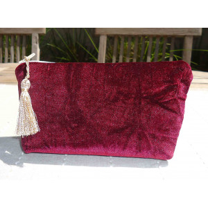 Costmetic Bag  Velvet Large