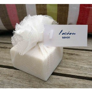 Guest Soap Counter Pack (24)  L'ocean Muslin Packaging