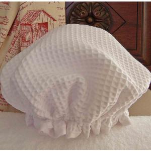 Shower Cap Waffle Cotton